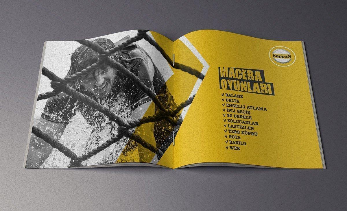 kappak organizasyon, katalog tasarım, logo tasarım