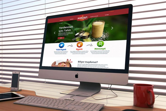 kervan susam tahin, web sitesi, web tasarım, logo tasarım