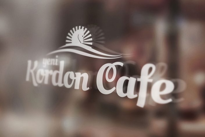 yeni kordon cafe, logo tasarım