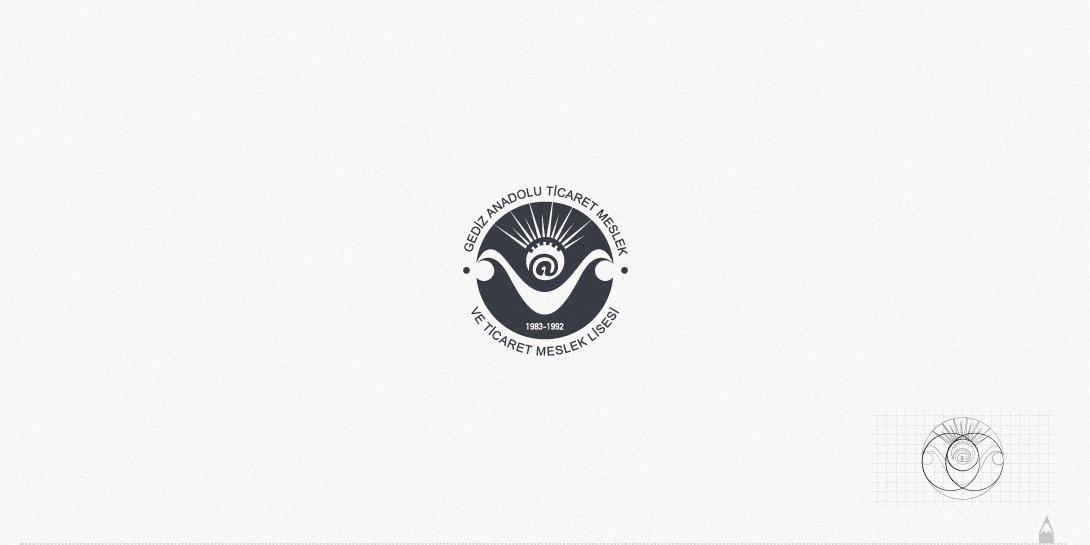gediz ticaret meslek lisesi, logo tasarım
