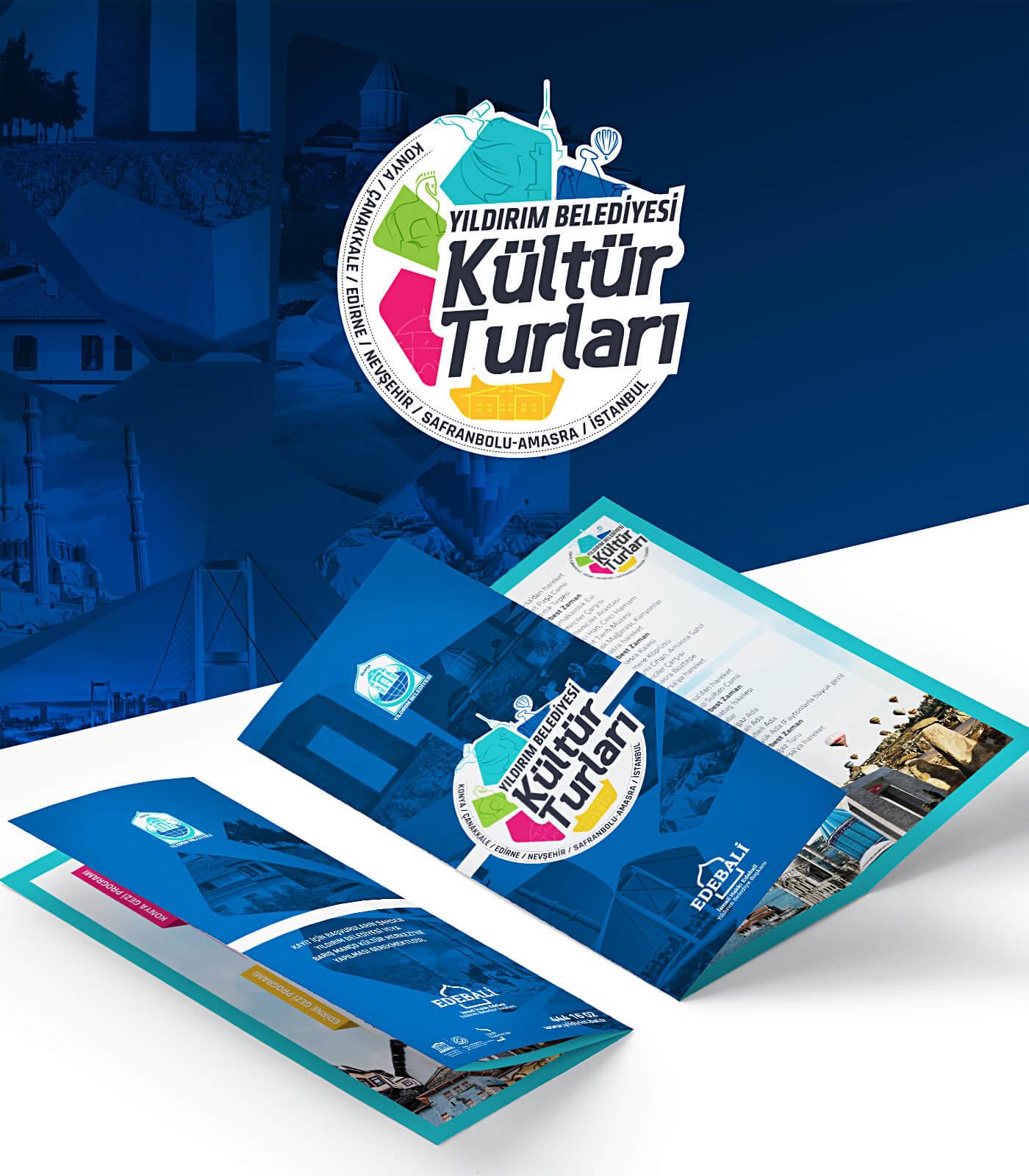 kültür turları, broşür tasarım, logo tasarım