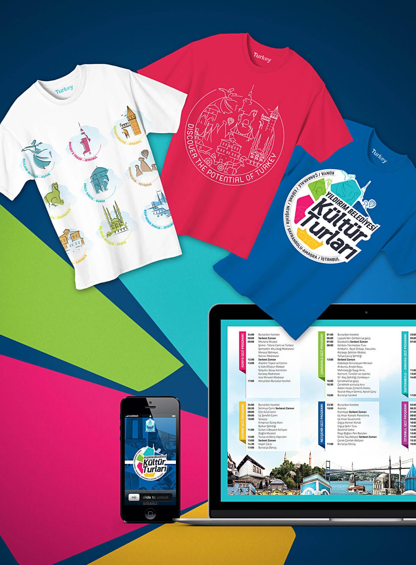 kültür turları, tişört tasarım, logo tasarım, web tasarım, mobil tasarım