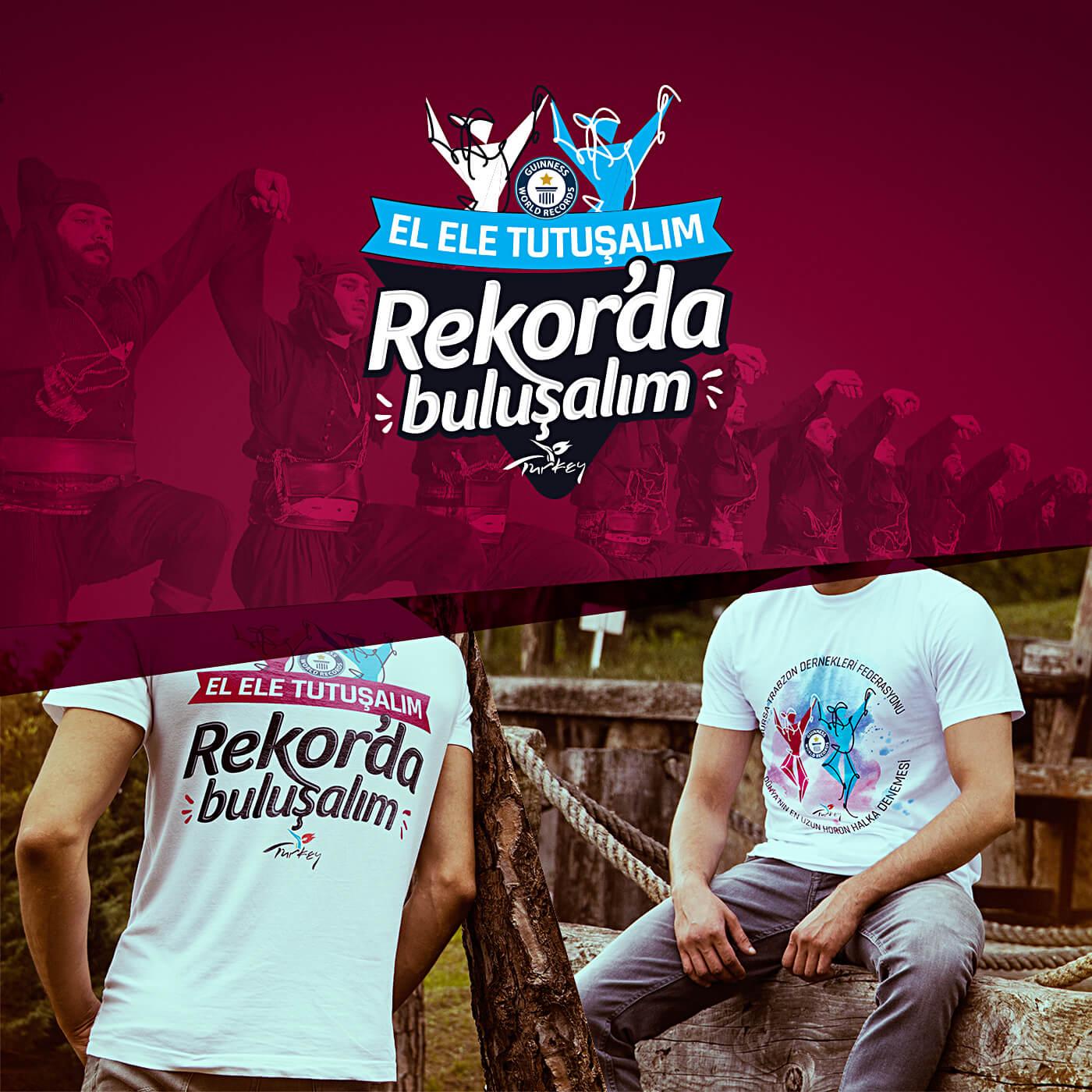rekorda buluşalım, tişört tasarım, logo tasarım