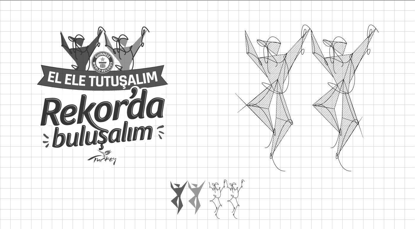 rekorda buluşalım, logo tasarım