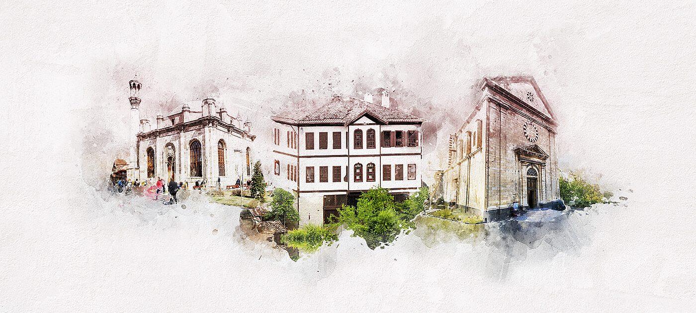 aziziye cami, kendirli kilisesi, safranbolu evleri
